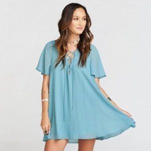 Show Me Your Mumu Kylie Lace Up Dress Size S